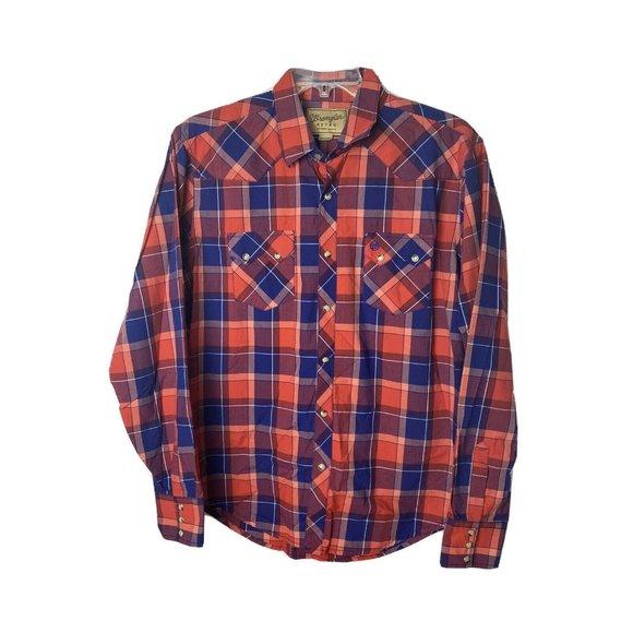 Wrangler The Retro Mens Size XL Western Shirt EUC